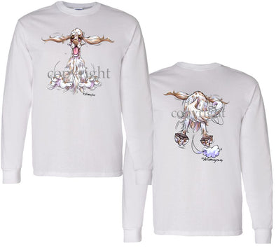 English Setter - Coming and Going - Long Sleeve T-Shirt (Double Sided)