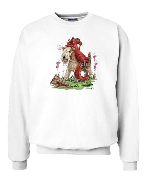 Lakeland Terrier - With Fox - Caricature - Sweatshirt