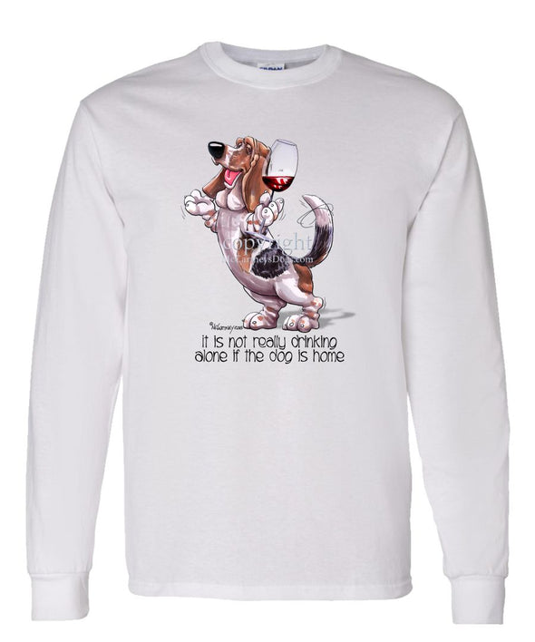 Basset Hound - It's Not Drinking Alone - Long Sleeve T-Shirt
