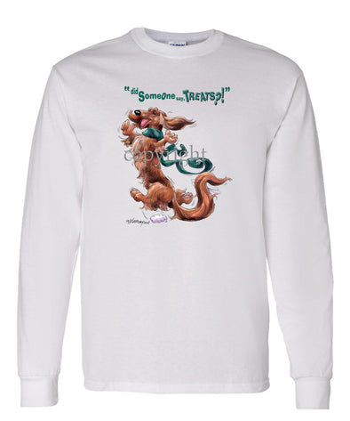 Dachshund  Longhaired - Treats - Long Sleeve T-Shirt