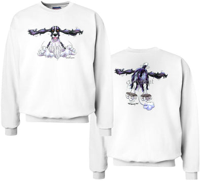 English Springer Spaniel - Coming and Going - Sweatshirt (Double Sided)