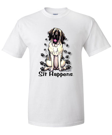 Mastiff - Sit Happens - T-Shirt