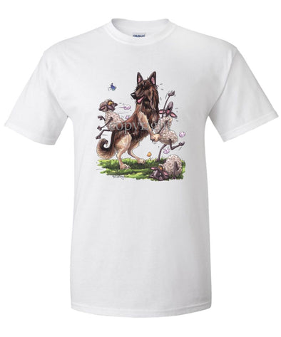 Belgian Tervuren - Dancing Sheep - Caricature - T-Shirt