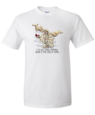 Cocker Spaniel - It's Drinking Alone 2 - T-Shirt