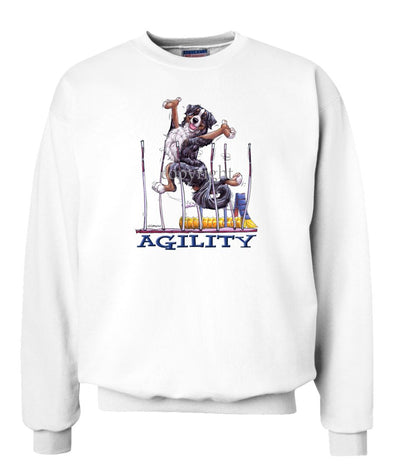 Bernese Mountain Dog - Agility Weave II - Sweatshirt