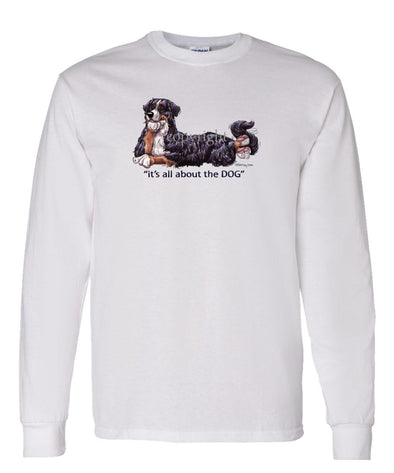 Bernese Mountain Dog - All About The Dog - Long Sleeve T-Shirt