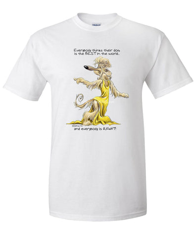 Afghan Hound - Best Dog in the World - T-Shirt
