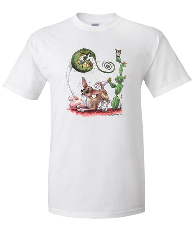 Chihuahua  Smooth - Chasing Lizard - Caricature - T-Shirt