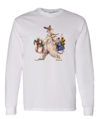 Afghan Hound - Walking With Produce - Mike's Faves - Long Sleeve T-Shirt
