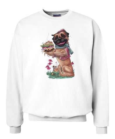Bullmastiff - Cheeseburger - Caricature - Sweatshirt