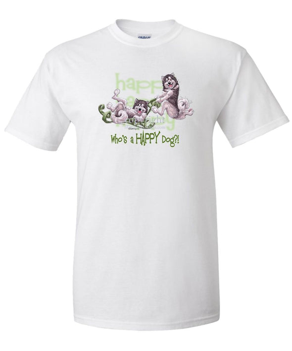 Alaskan Malamute - Who's A Happy Dog - T-Shirt