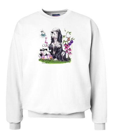 Tibetan Terrier - Panda In Dish - Caricature - Sweatshirt