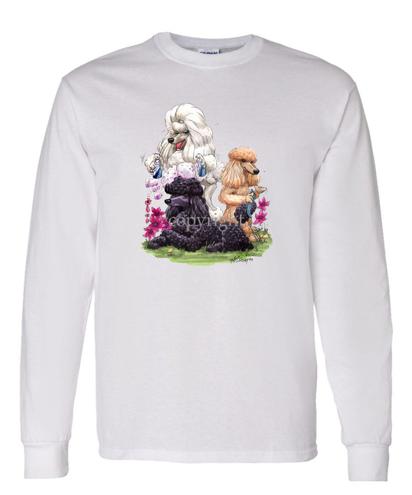 Poodle - Group Hair Spray - Caricature - Long Sleeve T-Shirt