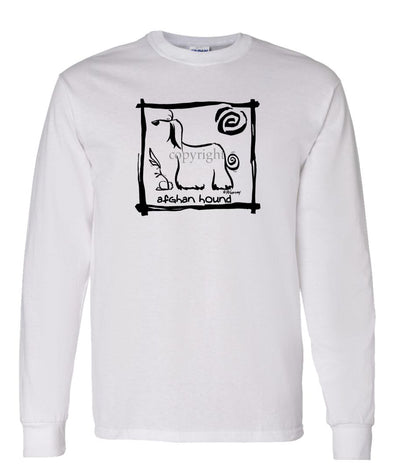 Afghan Hound - Cavern Canine - Long Sleeve T-Shirt