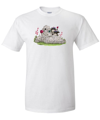 Komondor - With Rose - Caricature - T-Shirt