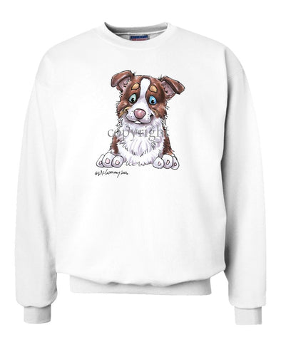 Border Collie  Red Tri - Puppy - Caricature - Sweatshirt