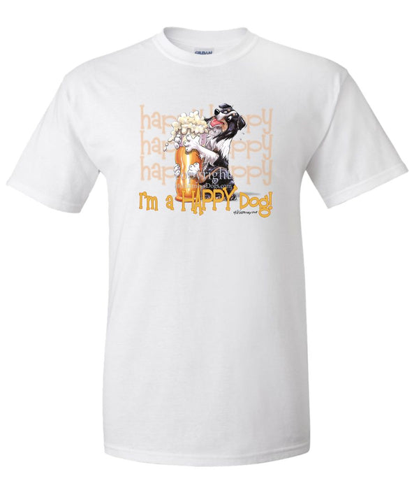 Australian Shepherd  Black Tri - 2 - Who's A Happy Dog - T-Shirt
