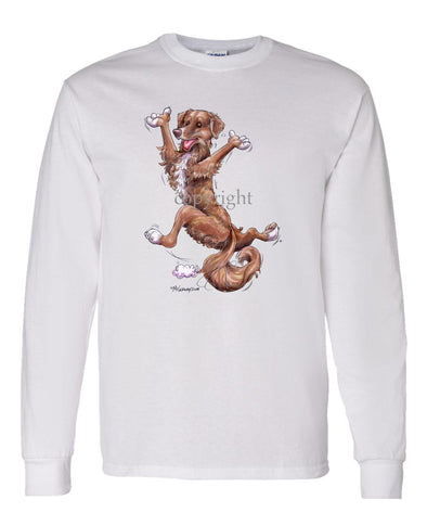 Nova Scotia Duck Tolling Retriever - Happy Dog - Long Sleeve T-Shirt