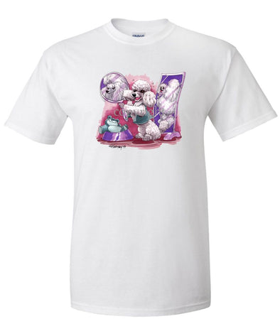 Poodle  Toy White - Mirror - Caricature - T-Shirt