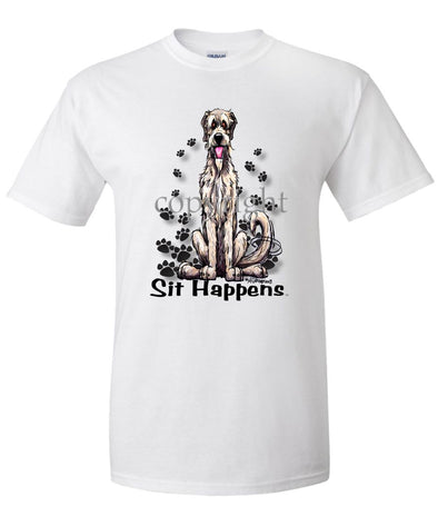 Irish Wolfhound - Sit Happens - T-Shirt