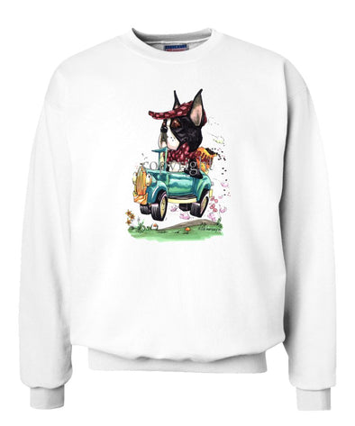 Boston Terrier - Jalopy Hauling Beans - Caricature - Sweatshirt