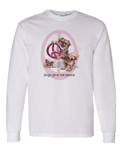 Tibetan Spaniel - Peace Dogs - Long Sleeve T-Shirt