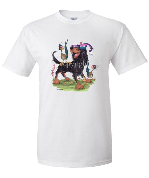 Gordon Setter - With Shades - Caricature - T-Shirt