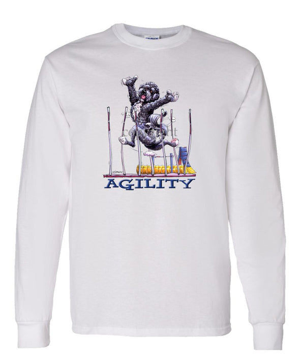Portuguese Water Dog - Agility Weave II - Long Sleeve T-Shirt