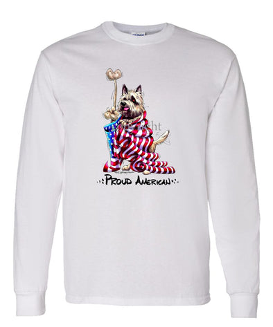Cairn Terrier - Proud American - Long Sleeve T-Shirt