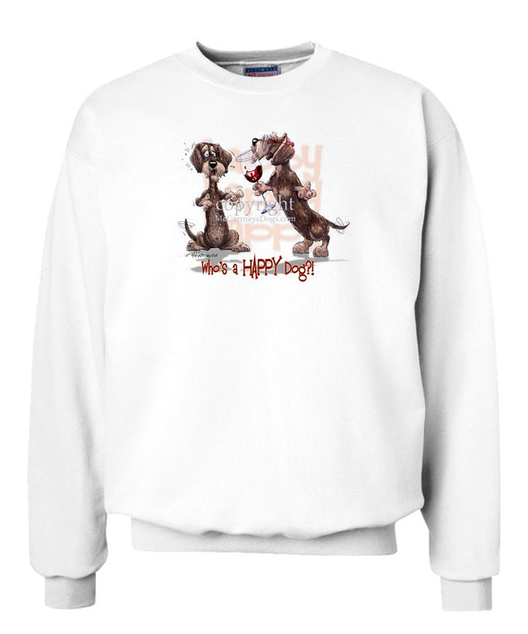 Dachshund  Wirehaired - Who's A Happy Dog - Sweatshirt