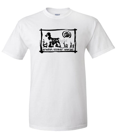 English Cocker Spaniel - Cavern Canine - T-Shirt