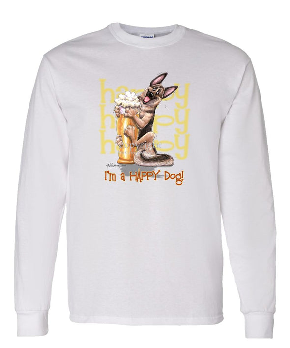 German Shepherd - 3 - Who's A Happy Dog - Long Sleeve T-Shirt