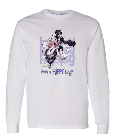 English Springer Spaniel - Who's A Happy Dog - Long Sleeve T-Shirt