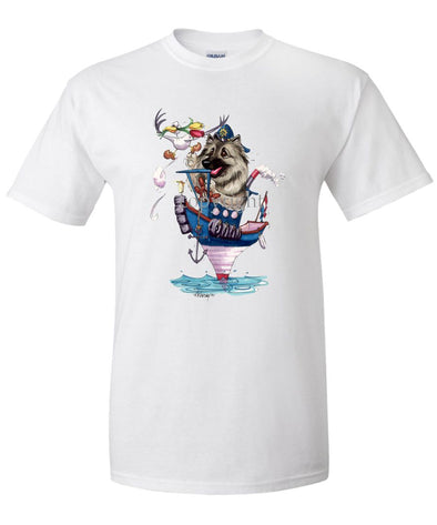 Keeshond - Tugboat - Caricature - T-Shirt