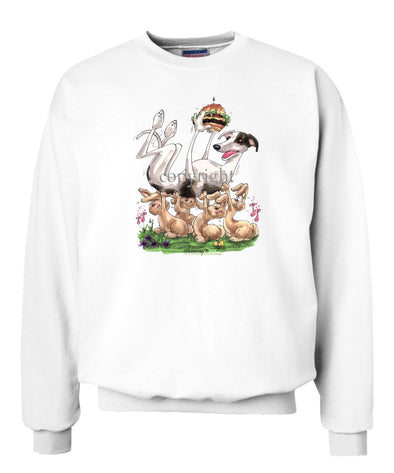 Greyhound - Cheesburger - Caricature - Sweatshirt