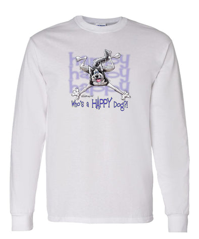Siberian Husky - Who's A Happy Dog - Long Sleeve T-Shirt
