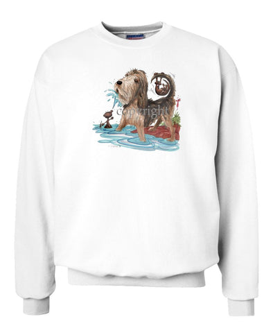 Otterhound - Otter Squirting Water - Caricature - Sweatshirt
