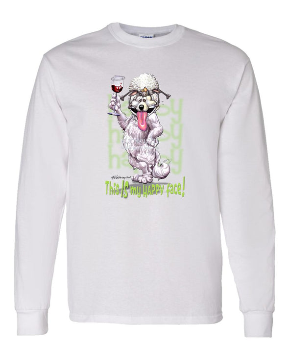 Great Pyrenees - Who's A Happy Dog - Long Sleeve T-Shirt