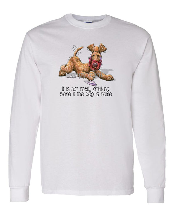 Irish Terrier - It's Not Drinking Alone - Long Sleeve T-Shirt