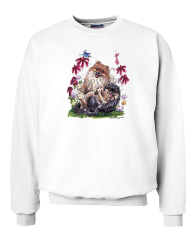 Pomeranian - Group Playing - Caricature - Sweatshirt
