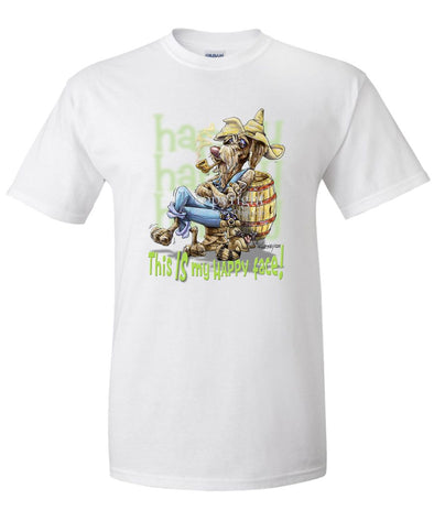 German Wirehaired Pointer - Who's A Happy Dog - T-Shirt