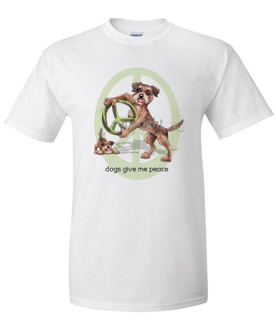 Border Terrier - Peace Dogs - T-Shirt