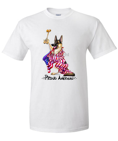 German Shepherd - Proud American - T-Shirt
