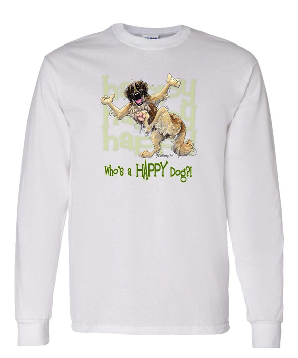 Leonberger - Who's A Happy Dog - Long Sleeve T-Shirt