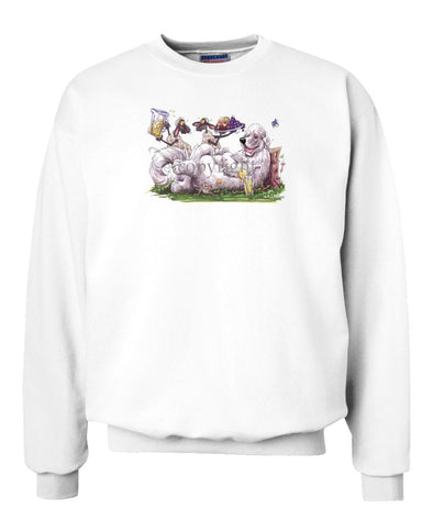 Great Pyrenees - Sheep Serving Lemonade And Fruit Plate - Caricature - Sweatshirt