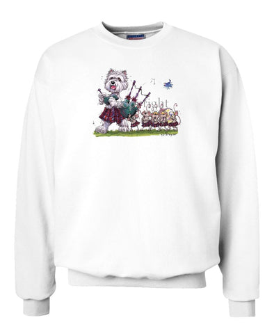 West Highland Terrier - Bagpipes - Caricature - Sweatshirt