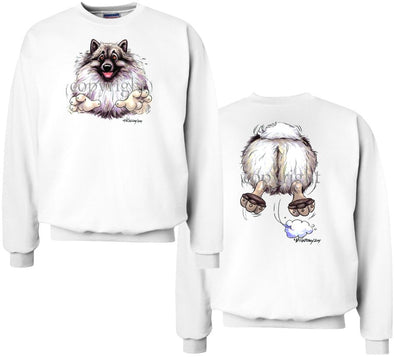 Keeshond - Coming and Going - Sweatshirt (Double Sided)