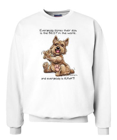 Norwich Terrier - Best Dog in the World - Sweatshirt