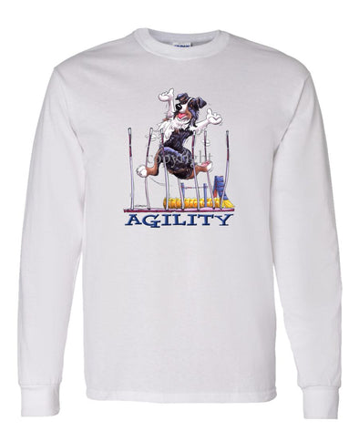 Australian Shepherd  Black Tri - Agility Weave II - Long Sleeve T-Shirt