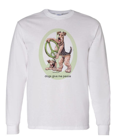 Airedale Terrier - Peace Dogs - Long Sleeve T-Shirt
